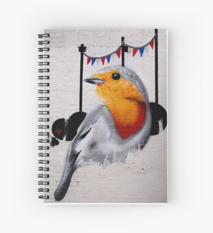 brick lane graffiti robin Spiral Notebook