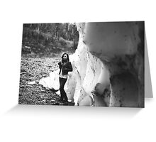 ice cave smoking Greeting Card