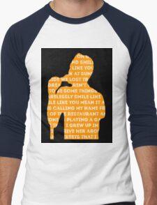 brandon flowers - smile like you mean it silhouette (black) Men's Baseball ¾ T-Shirt