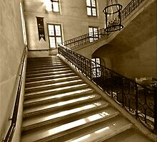 Stairs in Army Museum (Musee de l'Armee)  by Charuhas  Images