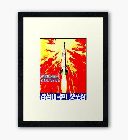 North Korean Propaganda - Rocket Framed Print