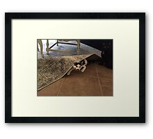 Hiding from the Mondays Framed Print