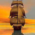 At Full Sail by Sandra Bauser Digital Art