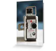 Brownie Movie Camera  Greeting Card