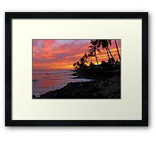 Ewa Beach, Hawai'i  Sunset Framed Print