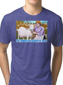 North Korean Propaganda - Goat Tri-blend T-Shirt