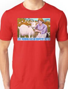 North Korean Propaganda - Goat Unisex T-Shirt