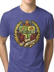 Donde Esta La Biblioteca  Tri-blend T-Shirt