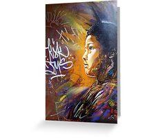 brick lane graffiti golden child Greeting Card