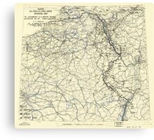 World War II Twelfth Army Group Situation Map March 11 1945 Canvas Print