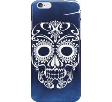 Skull And Blue Crossbones iPhone Case/Skin