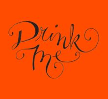 Drink Me Typography Kids Clothes
