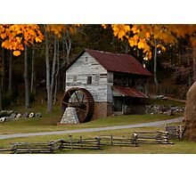 Grist Mill in Fall Photographic Print