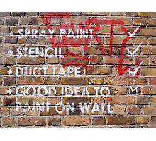 brick lane graffiti writing on the wall Photographic Print