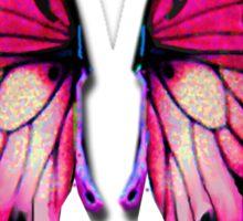 Pink Wings Butterfly Sticker