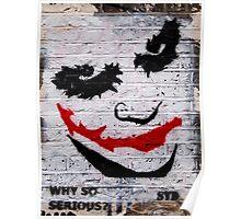 brick lane graffiti joker Poster