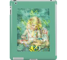 TOILING FOR HOURS IN HER FOREST OF FLOWERS iPad Case/Skin