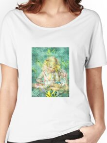 TOILING FOR HOURS IN HER FOREST OF FLOWERS Women's Relaxed Fit T-Shirt