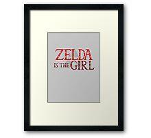 Zelda Is The Girl Framed Print