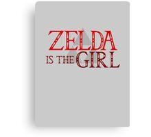 Zelda Is The Girl Canvas Print