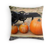 Orange Pumpkins - Farm Oak Glen, CA Throw Pillow