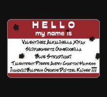 Hello My Name is... Vash by VashCrow