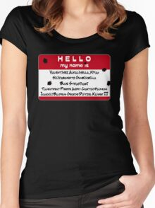 Hello My Name is... Vash Women's Fitted Scoop T-Shirt