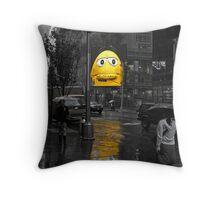 Gloomy, Rainy Day, Manhattan Throw Pillow