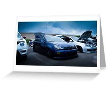 Slammed Golf GTI Greeting Card