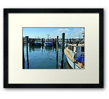 Lobster Boats at Point Judith, RI [4] Framed Print
