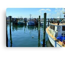 Lobster Boats at Point Judith, RI [4] Canvas Print
