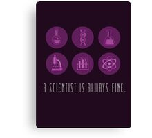 Trust Me, I'm a Scientist. Canvas Print