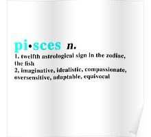 Zodiac Definitions: Pisces Poster