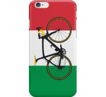 Bike Flag Italy (Big - Highlight) iPhone Case/Skin