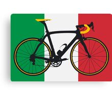 Bike Flag Italy (Big - Highlight) Canvas Print