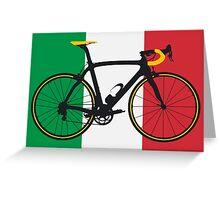 Bike Flag Italy (Big - Highlight) Greeting Card