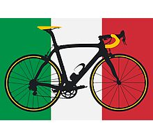 Bike Flag Italy (Big - Highlight) Photographic Print