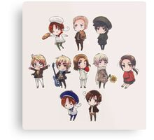 hetalia chibi collection Metal Print