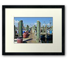 Boat Docks at Point Judith, RI [5] Framed Print