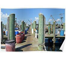 Boat Docks at Point Judith, RI [5] Poster