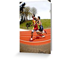 Run Together Greeting Card