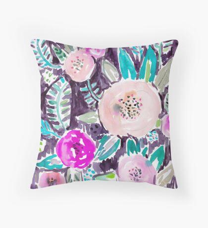 Gardens of Rockridge Tropical Watercolor Floral Throw Pillow