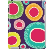 Happy Circle in Purple Background iPad Case/Skin