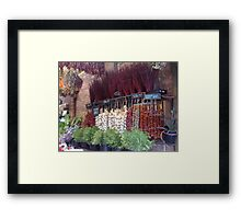 Spice shop Framed Print