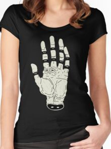 THE HAND OF DESTINY / LA MANO DEL DESTINO Women's Fitted Scoop T-Shirt