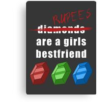 Rupees are a girls best friend Canvas Print