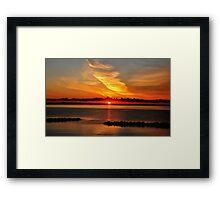Baltic Sea summer morning sunrise Framed Print