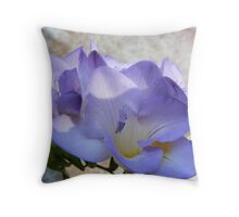Lilac Freesia Throw Pillow