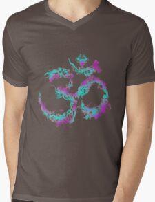 Smoky Om Mens V-Neck T-Shirt