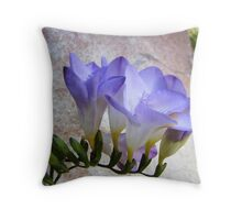 Spray of Lilac Freesia Throw Pillow